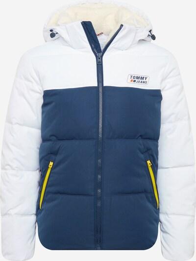 Tommy Jeans Tussenjas in de kleur Donkerblauw / Neongeel / Wit, Productweergave