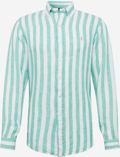 POLO RALPH LAUREN Krekls pieejami zaļš / balts, Preces skats