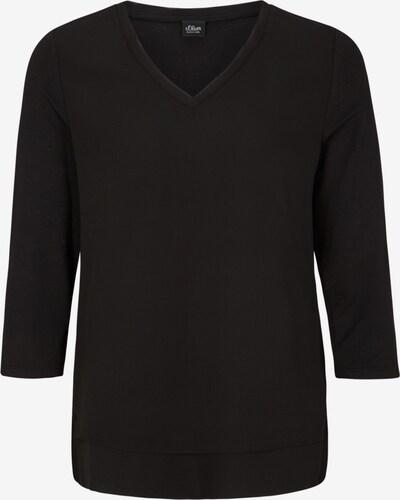 s.Oliver BLACK LABEL Blusenshirt in schwarz, Produktansicht