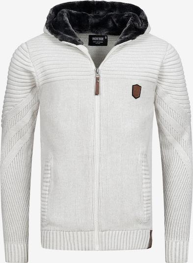 INDICODE JEANS Strickjacke ' Lothian ' in weiß, Produktansicht
