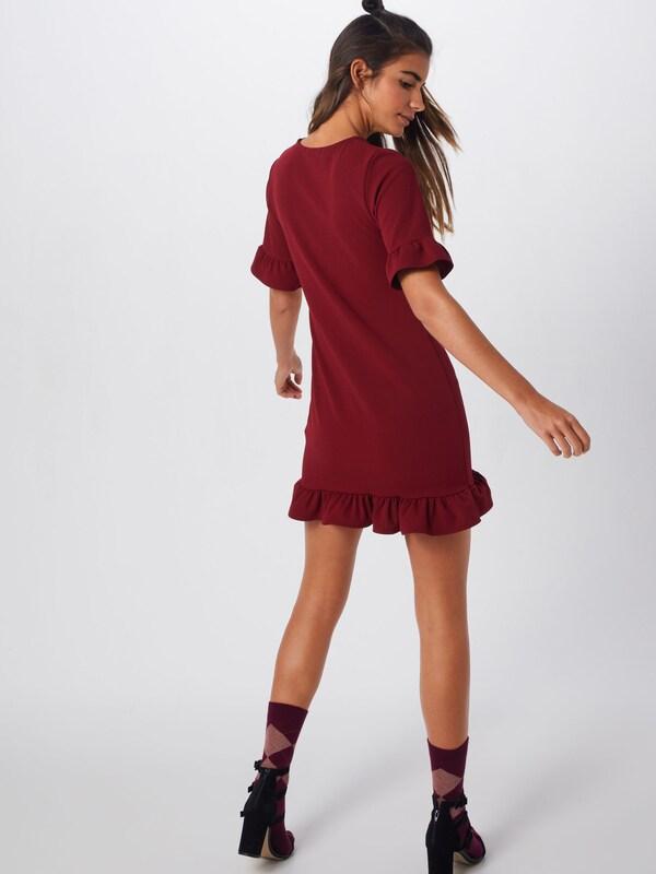 Mini Missguided Bourgogne Short Detail Sleeve Dress' Robe 'frill En oexrdCBW