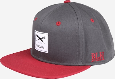 Iriedaily Basecap 'Daily Contra' in grau / rot / weiß, Produktansicht