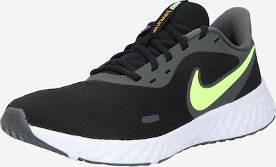 NIKE Sportschuhe 'Revolution 5' in neongelb / schwarz / weiß, Produktansicht
