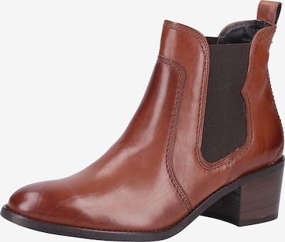 Paul Green Chelsea boots in de kleur Cognac: Vooraanzicht