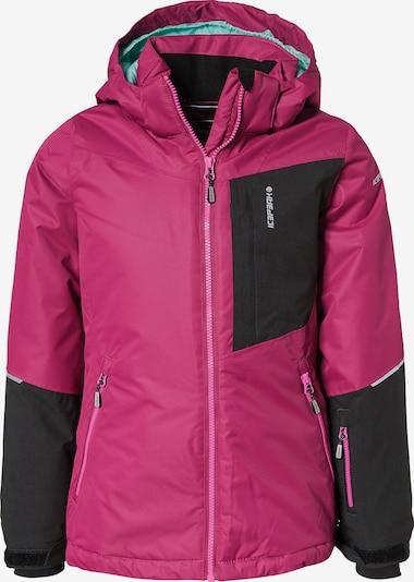 ICEPEAK Jacke 'Leeds' in pink / schwarz, Produktansicht