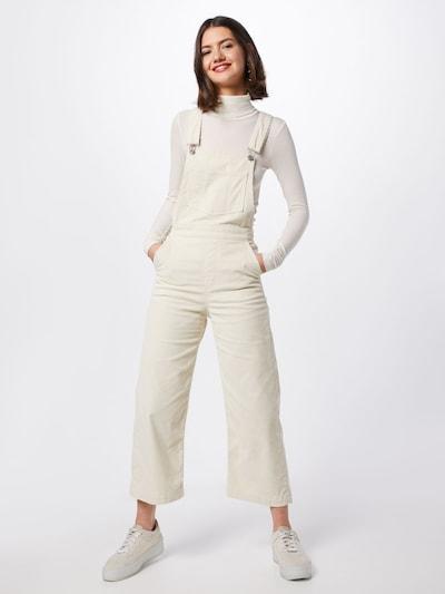 LEVI'S Latzjeans 'RIBCAGE WL CROP OVERALL' in weiß, Modelansicht