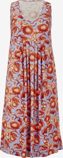 Suknelė iš heine , spalva - mėlyna / tamsiai oranžinė, Prekių apžvalga