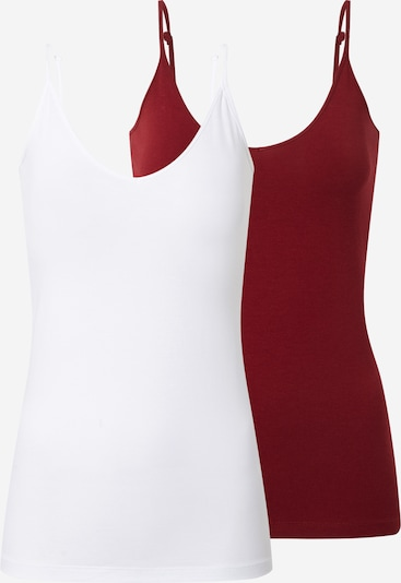 VERO MODA Top in de kleur Bordeaux / Wit, Productweergave