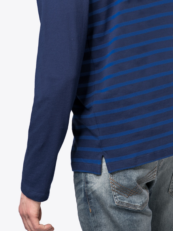 Gap Shirt Ls Breton Stripe Crew - Comp Ly Hvy Wt