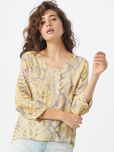 Rich & Royal Bluse in gelb / grau, Modelansicht
