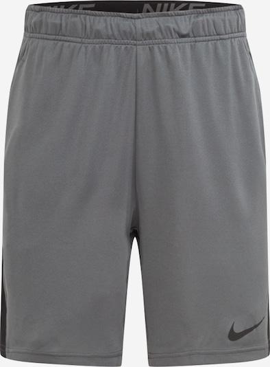 NIKE Pantalon de sport en gris chiné / noir, Vue avec produit
