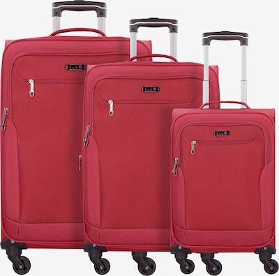 D&N Kofferset in hellgrün / rot, Produktansicht