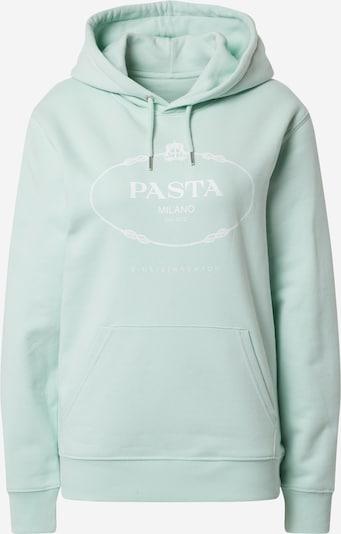 EINSTEIN & NEWTON Sweatshirt 'Pasta Hoodie Brun Hilde' in mint / weiß, Produktansicht