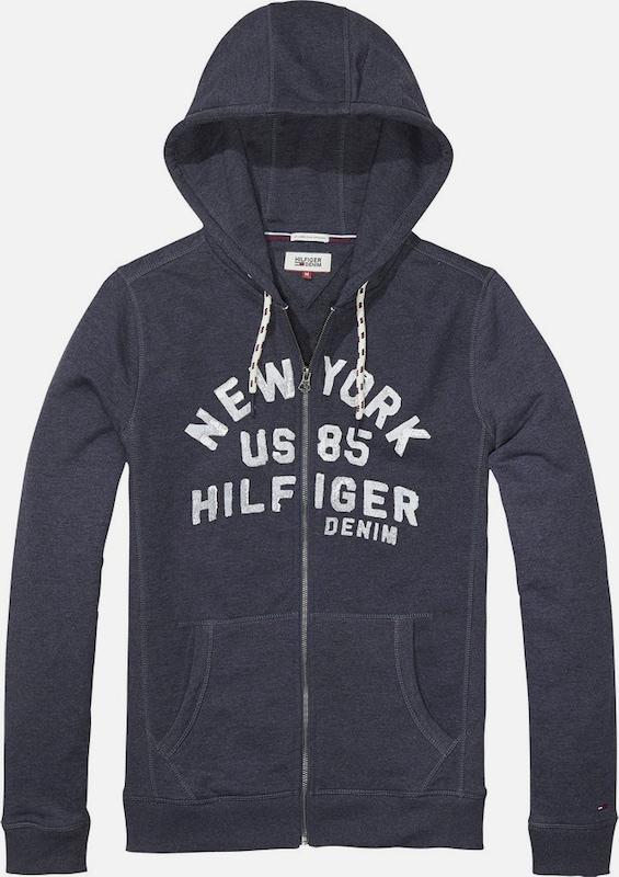 Tommy Jeans Sweatshirt 'THDM BASIC RIB HD ZIPTHRU L/S 13'
