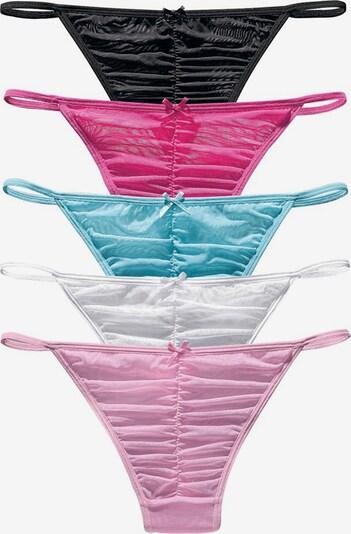 heine String in türkis / pink / rosa / schwarz / weiß, Produktansicht