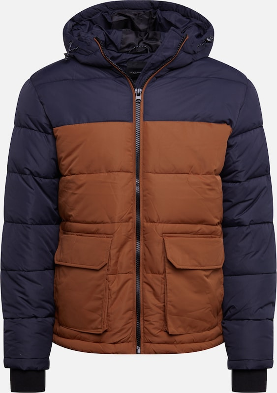 NEW LOOK Winterjacke in navy / braun, Produktansicht