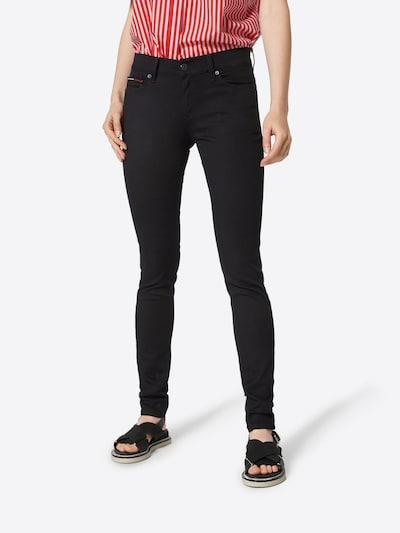 Tommy Jeans Jeans 'Skinny Nora' i svart denim, På modell