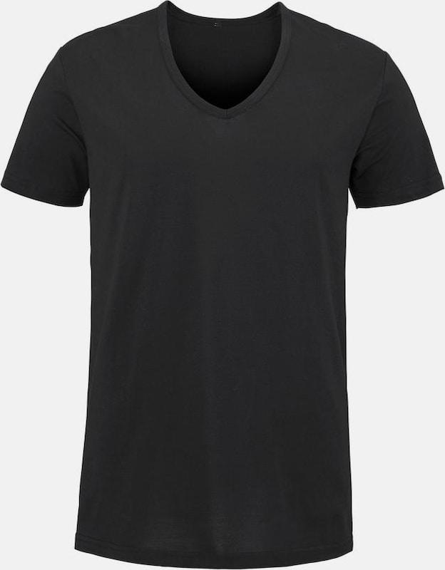 BENCH V-Shirt aus atmungsaktiver COOLMAX® Ware