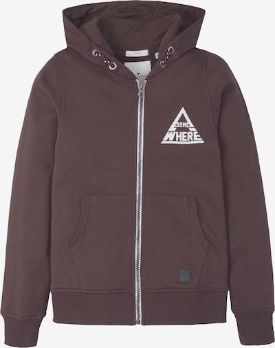 TOM TAILOR Strick & Sweatshirts Sweatjacke mit Print in braun, Produktansicht
