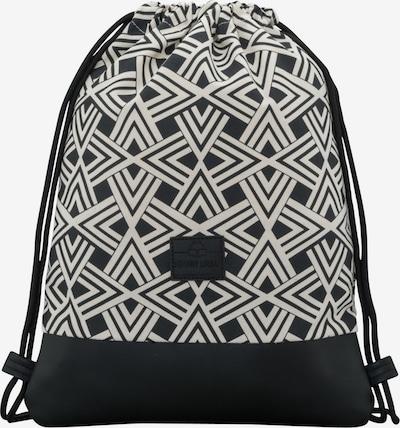 Johnny Urban Plecak na sznurkach 'Noah' w kolorze czarny / białym, Podgląd produktu