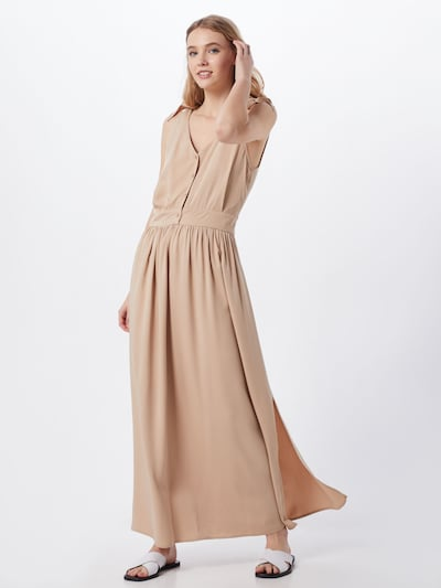 VILA Kleid 'VIMOROSE ANCLE S/L DRESS/SU' in beige, Modelansicht