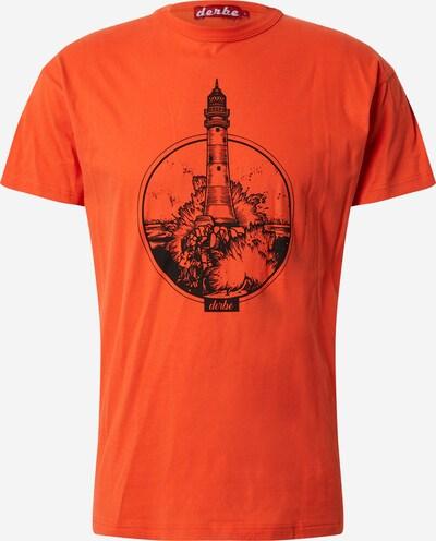 Derbe Shirt 'Bell Rock' in orangerot / schwarz, Produktansicht