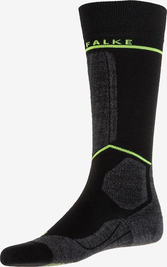 FALKE Skisocken 'FALKE SK Energie' in hellgrün / schwarz, Produktansicht