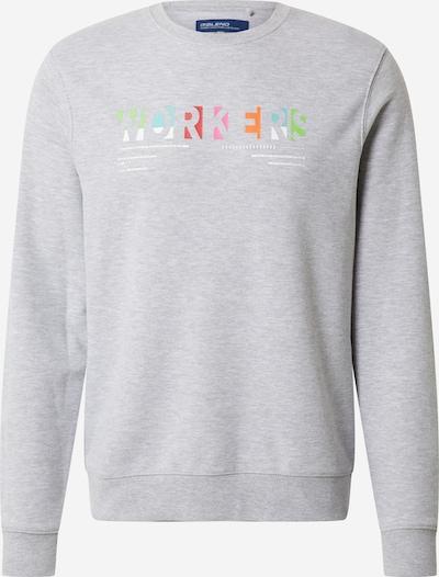 BLEND Sweatshirt in hellblau / hellgrau / orange / pink / weiß, Produktansicht