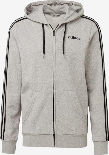 Bluză cu fermoar sport ADIDAS PERFORMANCE pe gri amestecat / negru, Vizualizare produs