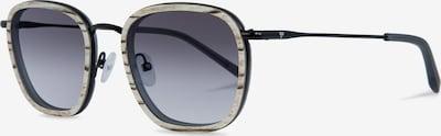 Kerbholz Sonnenbrille 'August' in beigemeliert / grau / schwarz, Produktansicht