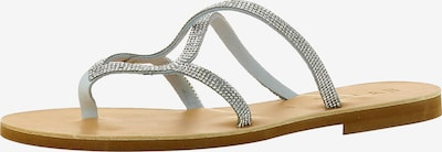 EVITA Sandale in grau: Frontalansicht