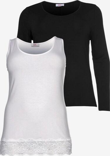 FLASHLIGHTS Longshirt in schwarz / weiß, Produktansicht