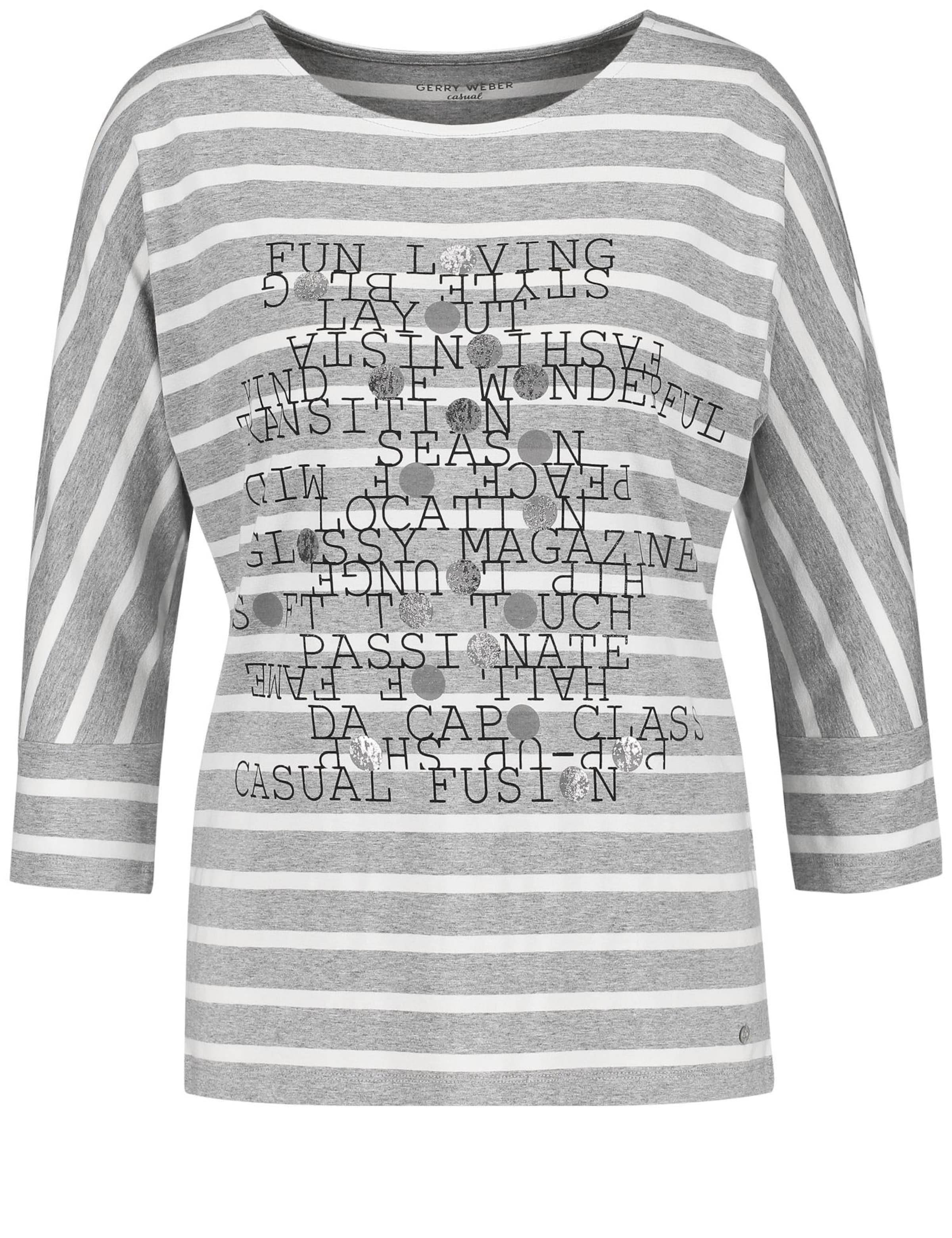 In Weiß Gerry Weber Shirt GraumeliertSchwarz xBsQrdthCo