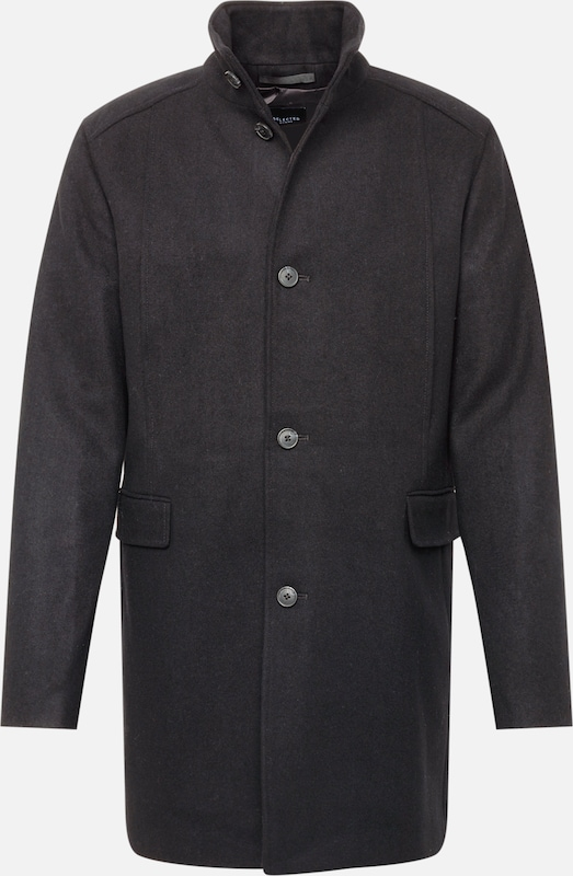 SELECTED HOMME Mantel 'SLHMOSTO WOOL COAT' in schwarz, Produktansicht