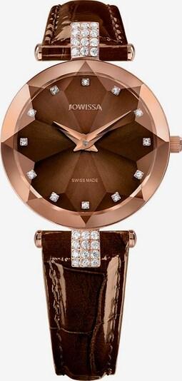 JOWISSA Quarzuhr 'Facet Strass' Swiss Ladies Watch in braun / rosegold, Produktansicht