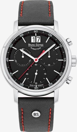 Bruno Söhnle Uhr 'Marcato' in rot / schwarz / silber: Frontalansicht