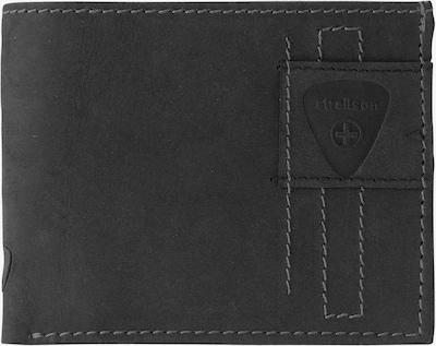 STRELLSON 'Richmond BillFold H6' Geldbörse Leder in schwarz: Frontalansicht