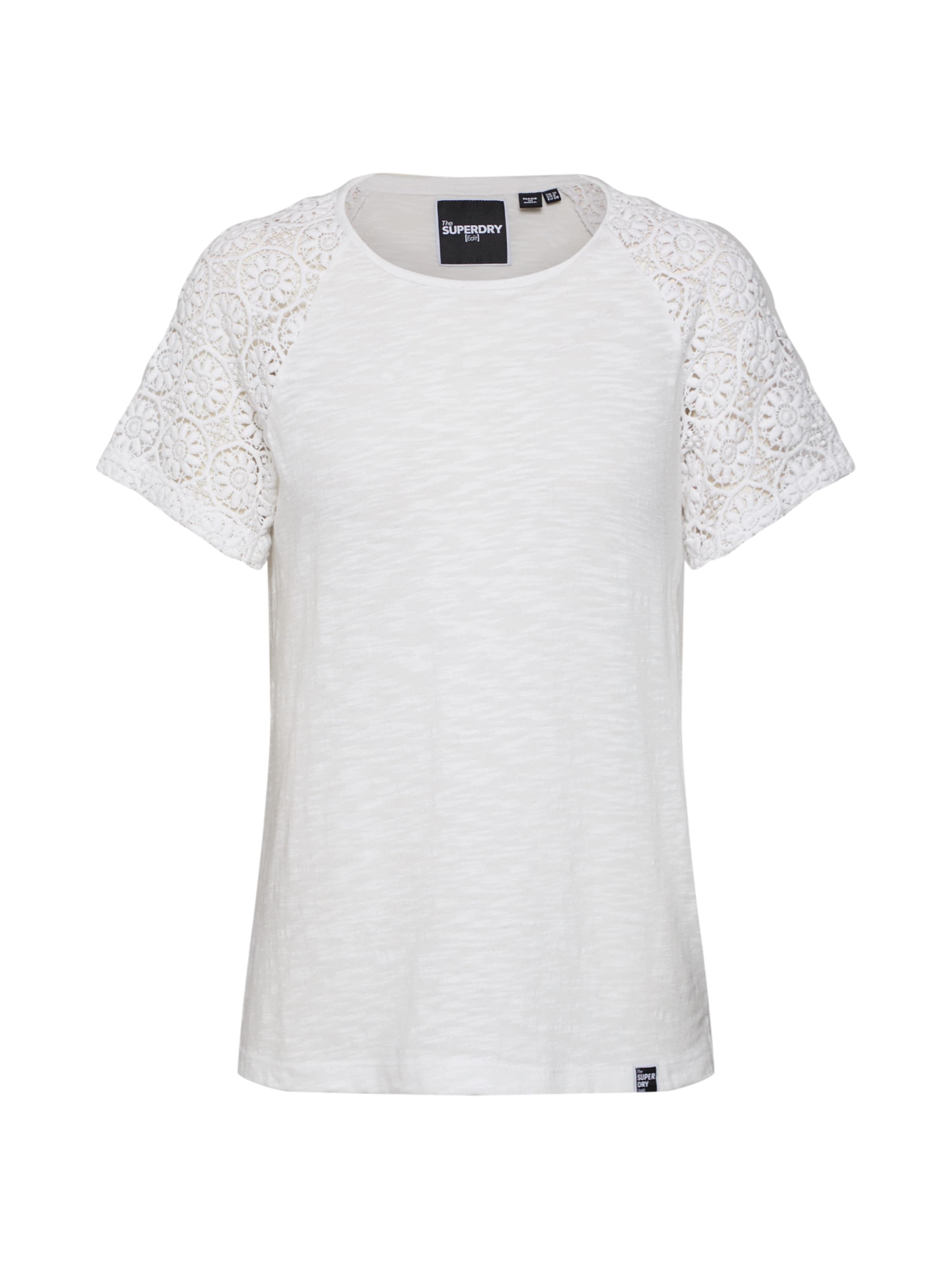 Superdry T En 'elisa' Blanc shirt KJcTlF1