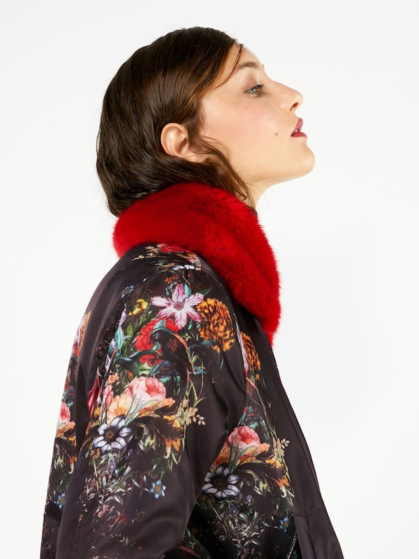 Replay Jacket With Fur Collar