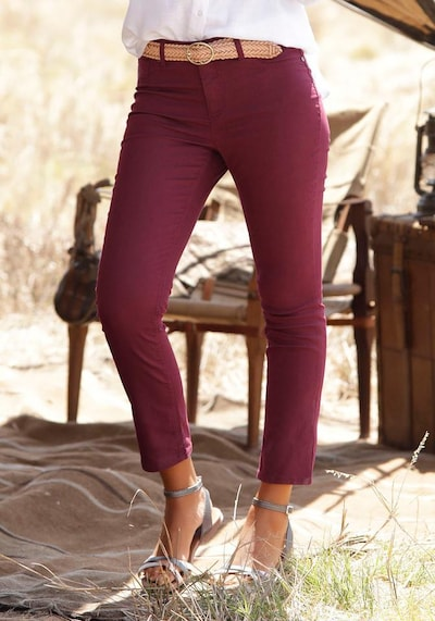 LASCANA Jeggings in blutrot, Modelansicht