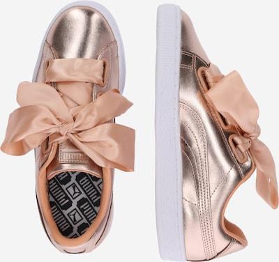 PUMA Sneaker 'Basket Heart Luxe' in rosegold / weiß: Seitenansicht