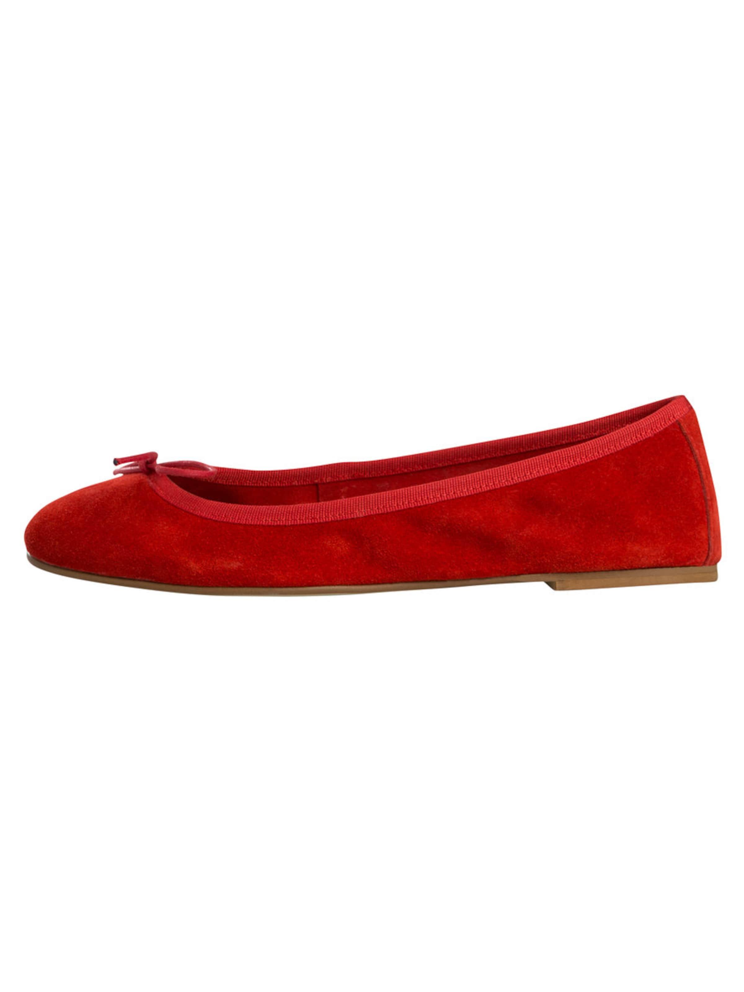 PIECES Wildleder-Ballerinas Rabatt Finish Shop-Angebot Online Verkauf Aus Deutschland jh18zVp7i