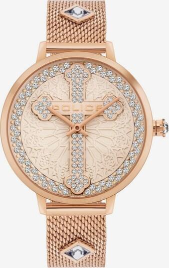 POLICE Uhr in rosegold / transparent, Produktansicht