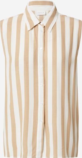VILA Blouse 'SUSASSY' in de kleur Beige / Wit, Productweergave