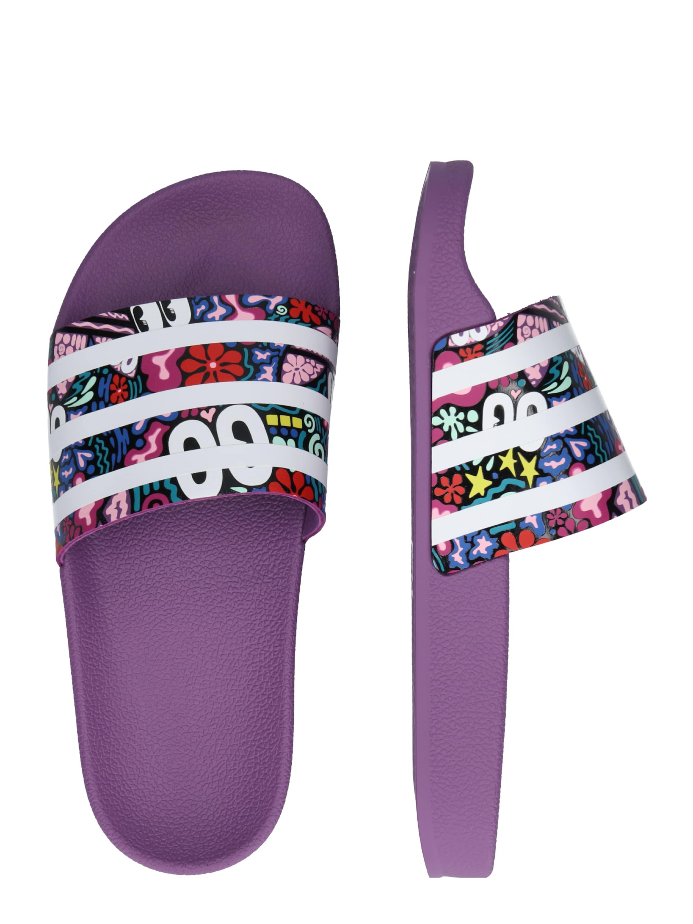 En Mule Couleurs Adidas Originals De 'adilette' AubergineMélange f76vIYbgy