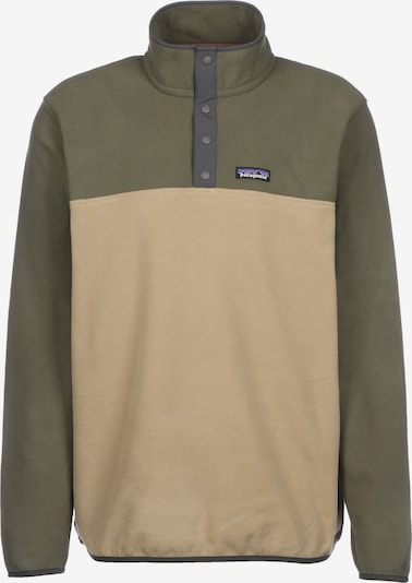 PATAGONIA Pullover 'Micro D Snap-T' in sand / oliv, Produktansicht