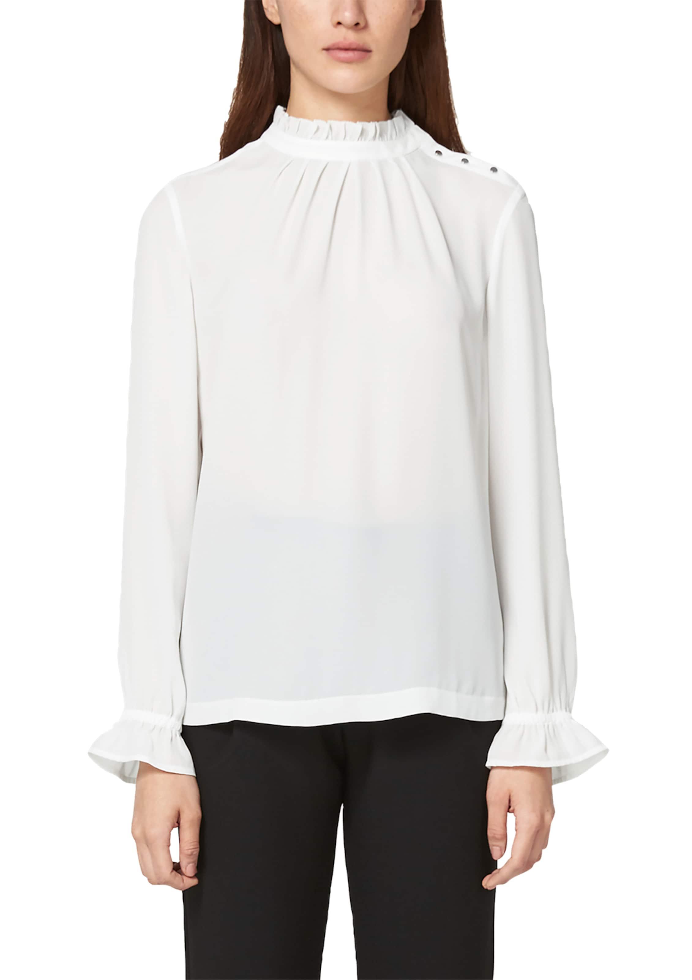 Label oliver Bluse S In Weiß Black b7gyYf6