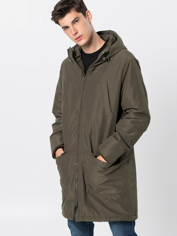 KIOMI Mantel 'long padded parka' in oliv: Frontalansicht