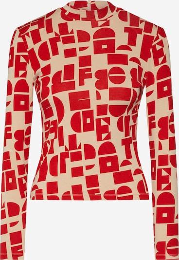 EDITED Koszulka 'Miah' w kolorze beżowy / czerwonym, Podgląd produktu