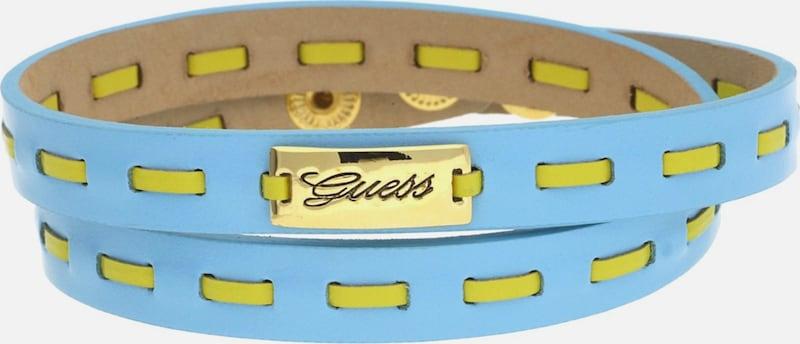 Deviner Wrap Bracelet Cuir Bleu Clair / Jaune Ubb21306